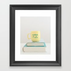 Reading is sexy Framed Art Print