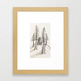 House in The Woods Framed Art Print
