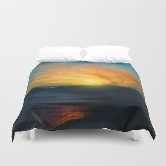 In the sunrise Duvet Cover