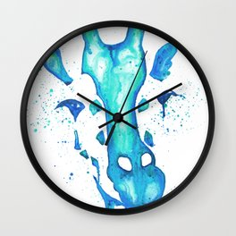 Giraffe Face Drip Wall Clock