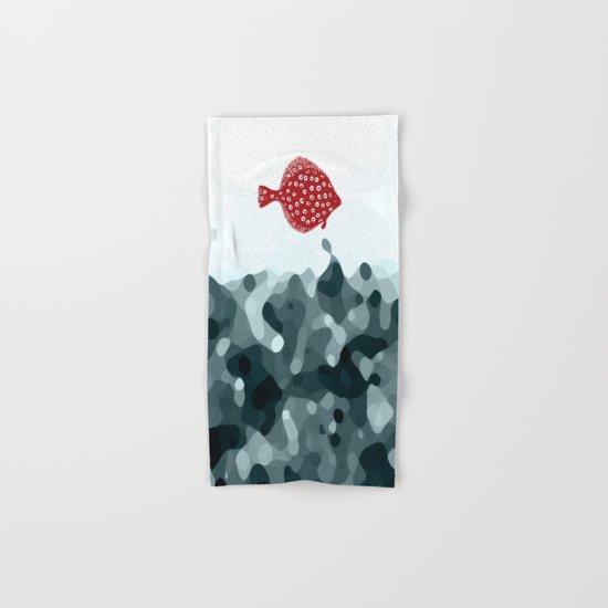 Little Red Fish Hand & Bath Towel