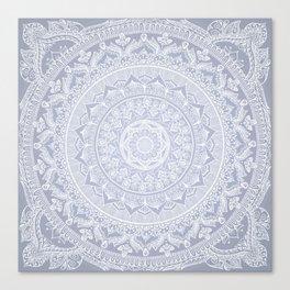 Mandala Soft Gray Canvas Print
