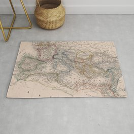 Vintage Map of The Roman Empire (1852) Rug