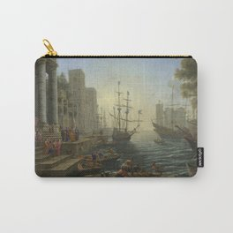 Seaport with the Embarkation of Saint Ursula by Claude Carry-All Pouch