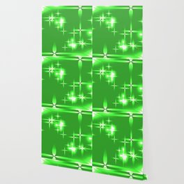 Vector light green shining background with light stars. For registration of paper or banners. Wallpaper