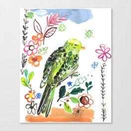 Clancy the Parakeet Canvas Print
