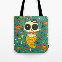 halloween Tote Bags featuring Halloween by Ariadna