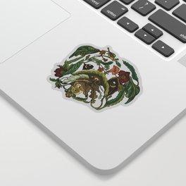 Botanical English Bulldog Sticker
