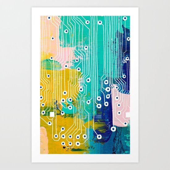 Chip Abstract Art Print