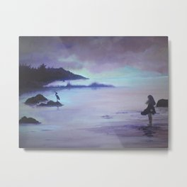 Luce Bay with Child Metal Print
