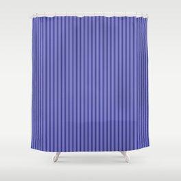 Navy Blue Mattress Ticking Bed Stripes Shower Curtain