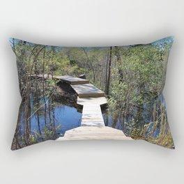 Crossing The Swamp Rectangular Pillow