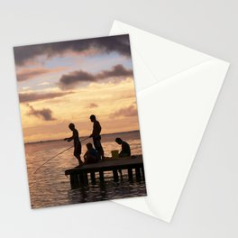 Moorea: Fishing At Sunset in the South Pacific Stationery Cards