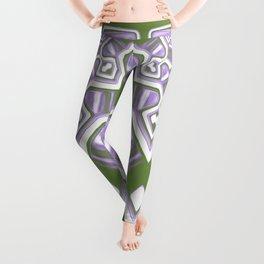Genderqueer Pride Abstract Geometric Mirrored Design Leggings