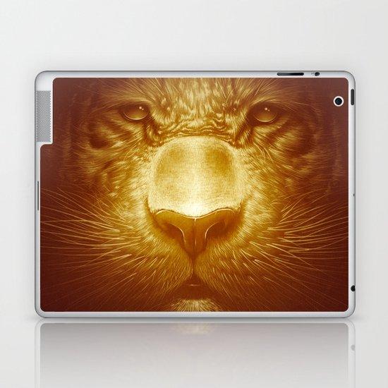Gold Tiger Laptop & iPad Skin