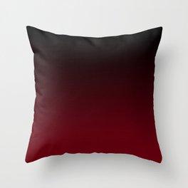 Dark Burgundy ombre Throw Pillow