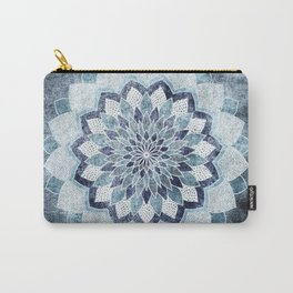 CHICBOHO MANDALA in Blue Carry-All Pouch