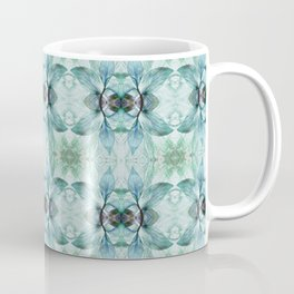 Blue, Green and Taupe Pattern 811 Coffee Mug