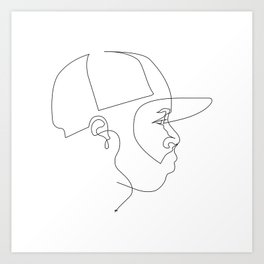 One Line For Dilla Art Print