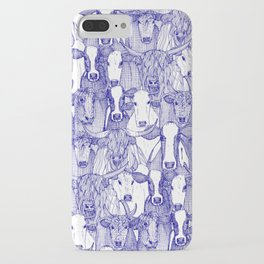 just cattle blue white iPhone Case