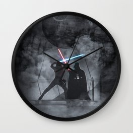 Luke fighting against his father. Wall Clock