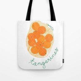 Tangerines Illustration Tote Bag