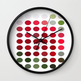 Red Rose Edges Dots Wall Clock