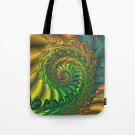 Dragon's Lair - Fractal Art Tote Bag
