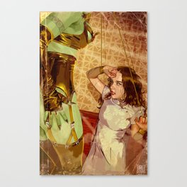 Attack of the 11 foot mars woman Canvas Print