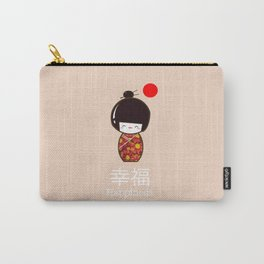 Geisha Girl Happiness Kawaii Carry-All Pouch