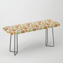 Illustrated Oranges and Limes Bench