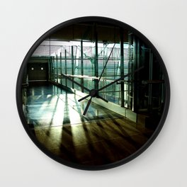 Boarding shadows Wall Clock