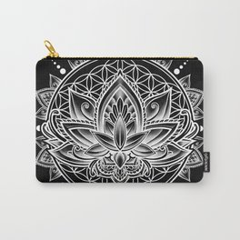 Lotus Mandala - Black Carry-All Pouch