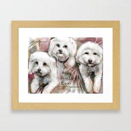 Abby, Harley and Lexi Framed Art Print