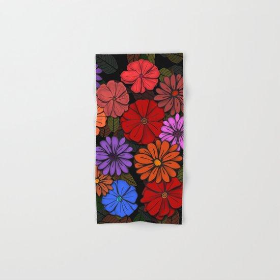Abstract #393 Flower Power #4 Hand & Bath Towel