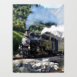 Steam Railway Furka-Bergstrecke Poster