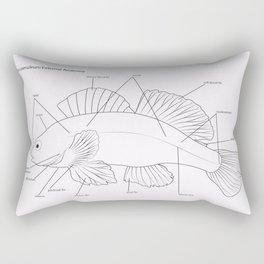 Anatomy of a Darter Rectangular Pillow