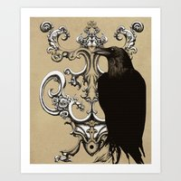 raven Art Prints featuring Raven by Кaterina Кalinich