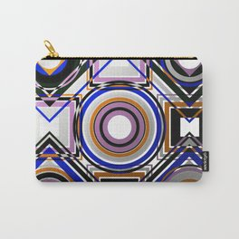 Wacky Geometry - Abstract, geometric, metallic style, chaotic pattern Carry-All Pouch