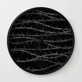 Bouquets of Barbed Wire Wall Clock