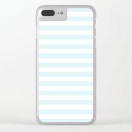 pastel mint stripes Clear iPhone Case
