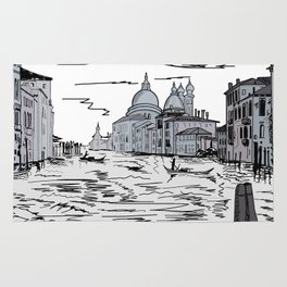 Venice . city on the water . Art Rug