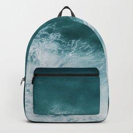 Teal Sea Waves Backpack
