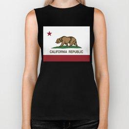 California Republic Flag Biker Tank