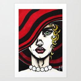 Red Pearls #1 Art Print
