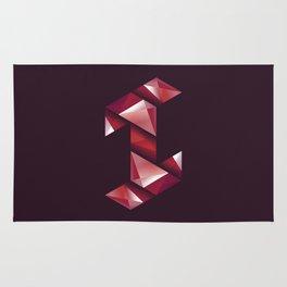 Alphabet letter polygon I Rug