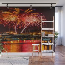 Marina Del Rey Fourth of July Fireworks 1 Wall Mural