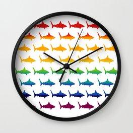 Rainbow Sharks Wall Clock