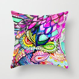 Illusion Fantasy in Flight Throw Pillow