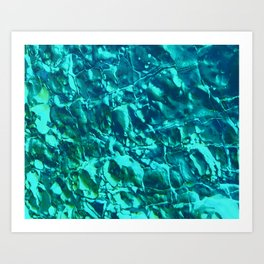 SEA ROCKS BLUE Art Print
